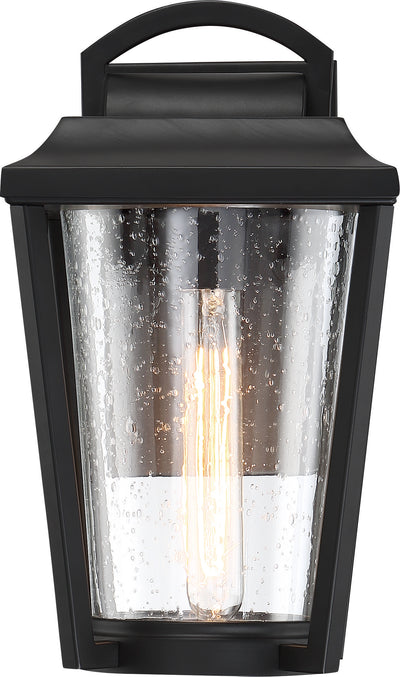 Nuvo Lighting 60/6511 Lakeview 1 Light Medium Lantern Aged Bronze Finish with Clear Seed Glass