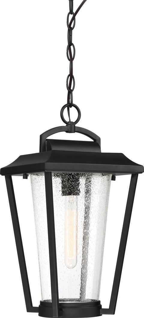 Nuvo Lighting 60/6514 Lakeview 1 Light Hanging Lantern Aged Bronze Finish with Clear Seed Glass