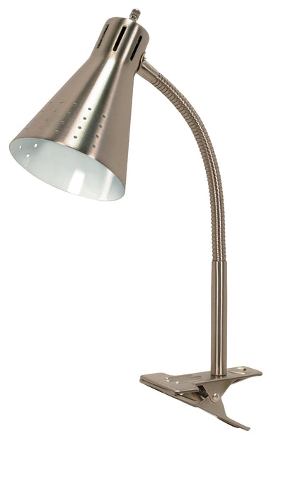 Nuvo Lighting 60/828 Clip On Gooseneck Lamp 1 Light Brushed Nickel