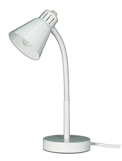 Nuvo Lighting 60/841 Small Gooseneck Desk Lamp 1 Light White