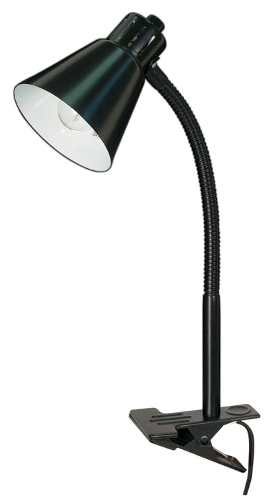 Nuvo Lighting 60/843 Clip On Gooseneck Lamp 1 Light Black