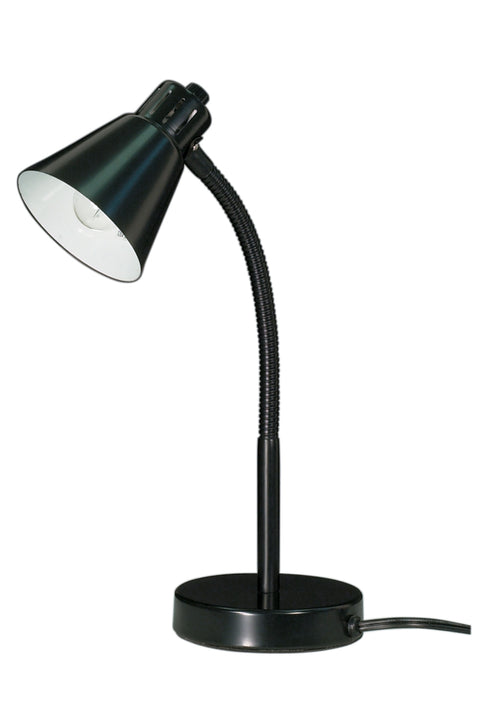 Nuvo Lighting 60/844 Small Gooseneck Desk Lamp 1 Light Black