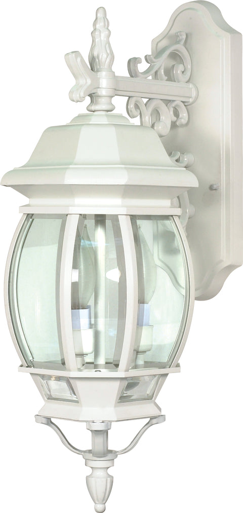 Nuvo Lighting 60/891 Central Park 3 Light 22 Inch Wall Mount Sconce Lantern with Clear Beveled Glass
