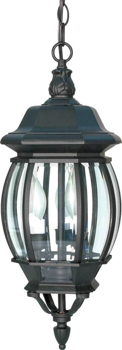 Nuvo Lighting 60/896 Central Park 3 Light 20 Inch Hanging Lantern with Clear Beveled Glass