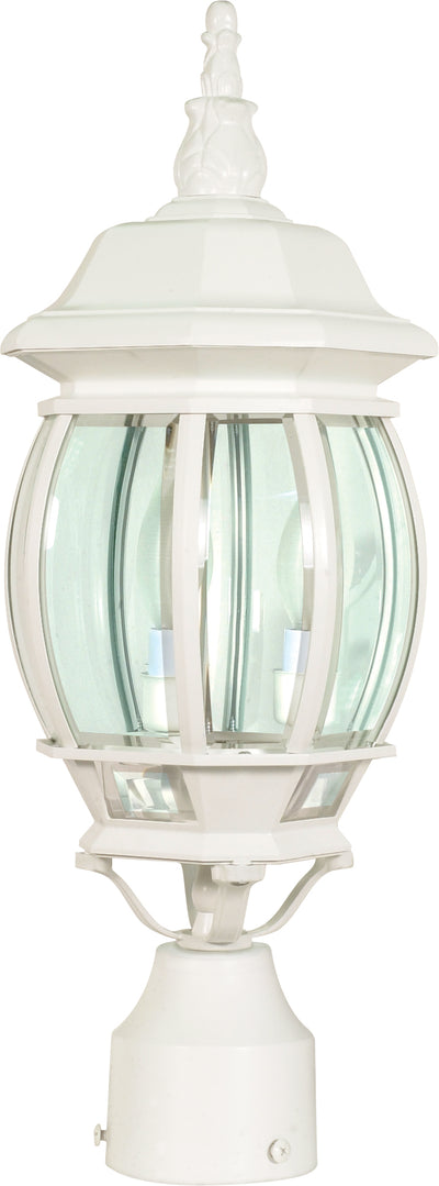 Nuvo Lighting 60/897 Central Park 3 Light 21 Inch Post Lantern with Clear Beveled Glass