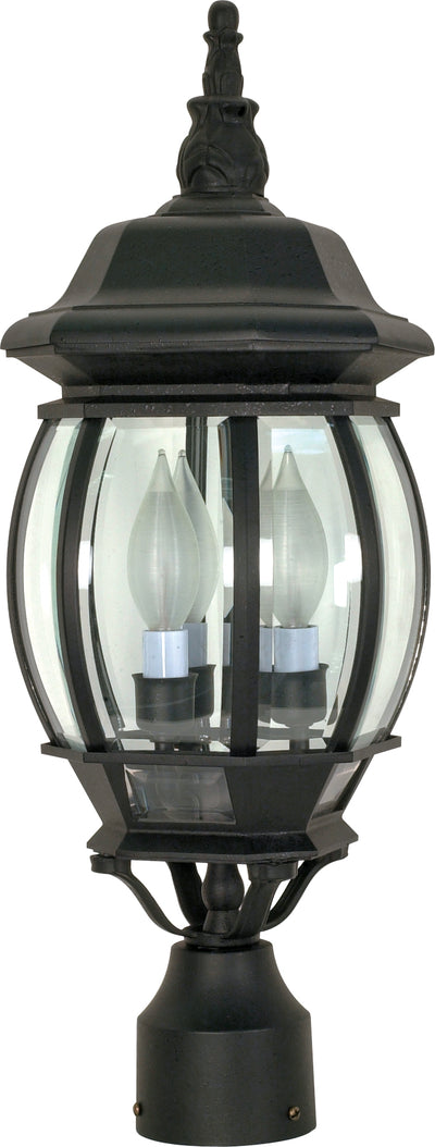 Nuvo Lighting 60/899 Central Park 3 Light 21 Inch Post Lantern with Clear Beveled Glass