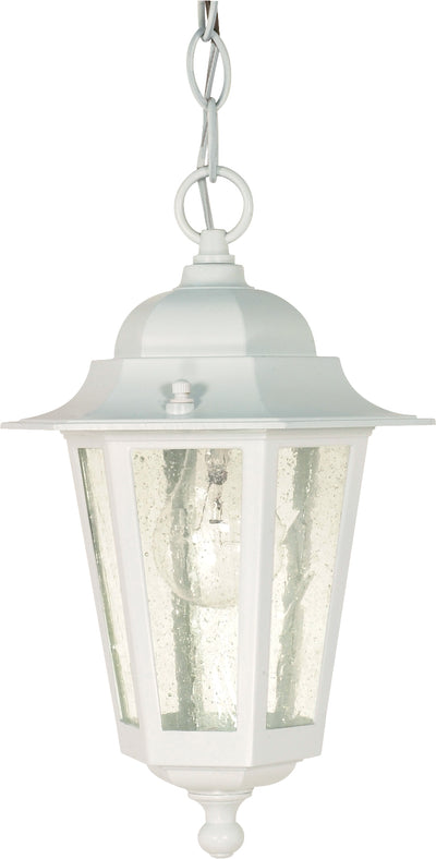 Nuvo Lighting 60/991 Cornerstone 1 Light 13 Inch Hanging Lantern with Clear Seed Glass