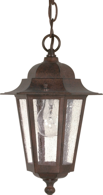 Nuvo Lighting 60/992 Cornerstone 1 Light 13 Inch Hanging Lantern with Clear Seed Glass