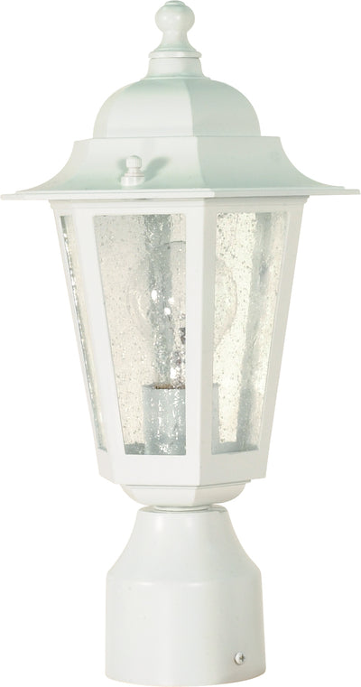 Nuvo Lighting 60/994 Cornerstone 1 Light 14 Inch Post Lantern with Clear Seed Glass