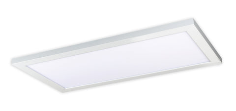 Nuvo Lighting 62/1252 22W 12 Inch x 24 Inch Surface Mount LED Fixture 4000K 90 CRI Low Profile White Finish 120/277V