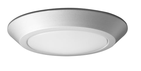 Nuvo Lighting 62/1262 7 Inch LED Flush Mount Fixture Disk Light Brushed Nickel Finish 3000K