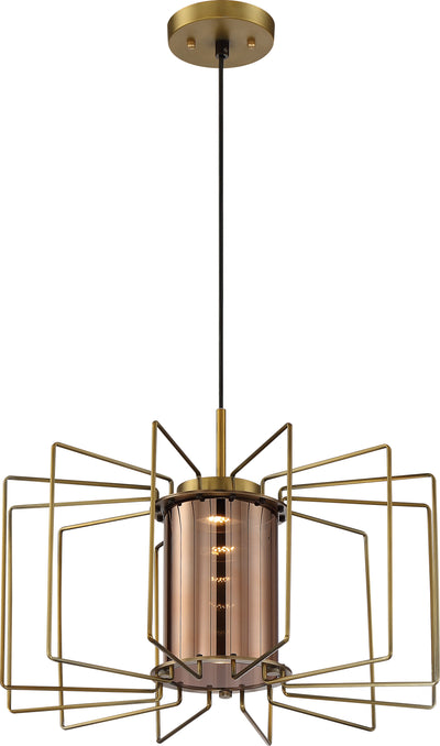 Nuvo Lighting 62/1352 Wired LED 1 Light Pendant Brushed Nickel Finish with Clear Glass