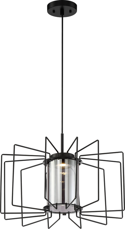 Nuvo Lighting 62/1353 Wired LED 1 Light Pendant Aged Bronze Finish with Mirrored Glass