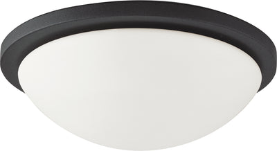 Nuvo Lighting 62/1443 Button LED 13 Inch Flush Mount Fixture Black Finish