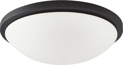 Nuvo Lighting 62/1444 Button LED 17 Inch Flush Mount Fixture Black Finish