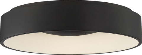 Nuvo Lighting 62/1452 Orbit 20W LED Flush Mount Black Finish