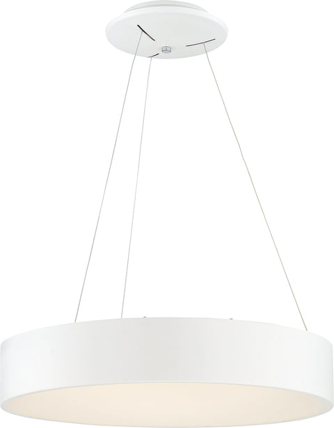 Nuvo Lighting 62/1455 Orbit 20W LED Pendant White Finish