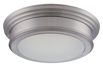 Nuvo Lighting 62/151 CHANCE LED FLUSH FIXTURE BRUSHED NICKEL/FROSTED GLASS