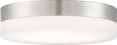 Nuvo Lighting 62/459 Pi 11 Inch Flush Mount LED Fixture Brushed Nickel Finish with Etched Glass