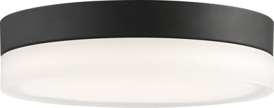 Nuvo Lighting 62/468 Pi 9 Inch Flush Mount LED Fixture Black Finish with Etched Glass