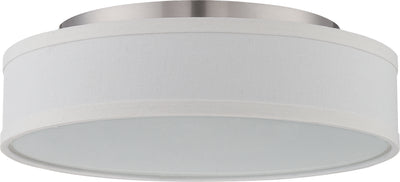 Nuvo Lighting 62/524 Heather LED Flush Fixture with White Linen Shade