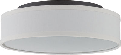 Nuvo Lighting 62/525 Heather LED Flush Fixture with White Linen Shade
