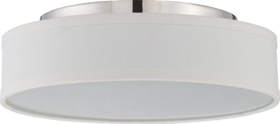 Nuvo Lighting 62/526 Heather LED Flush Fixture with White Linen Shade
