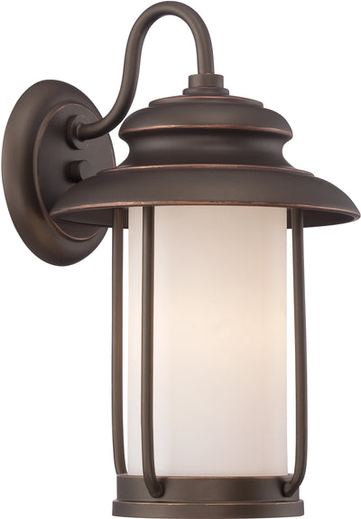 Nuvo Lighting 62/631 Bethany LED Outdoor Small Wall Mount Sconce with Satin White Glass