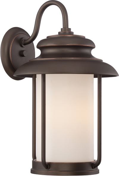 Nuvo Lighting 62/632 Bethany LED Outdoor Large Wall Mount Sconce with Satin White Glass