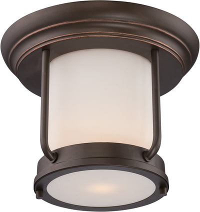 Nuvo Lighting 62/633 Bethany LED Outdoor Flush Fixture with Satin White Glass