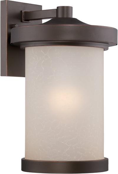 Nuvo Lighting 62/642 Diego LED Outdoor Large Wall Mount Sconce with Satin Amber Glass