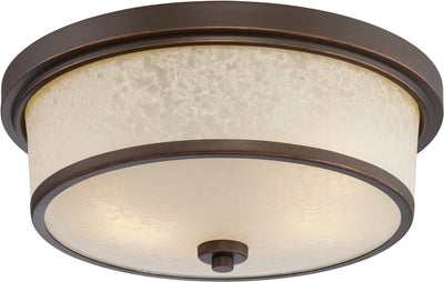 Nuvo Lighting 62/643 Diego LED Outdoor Flush Fixture with Satin Amber Glass
