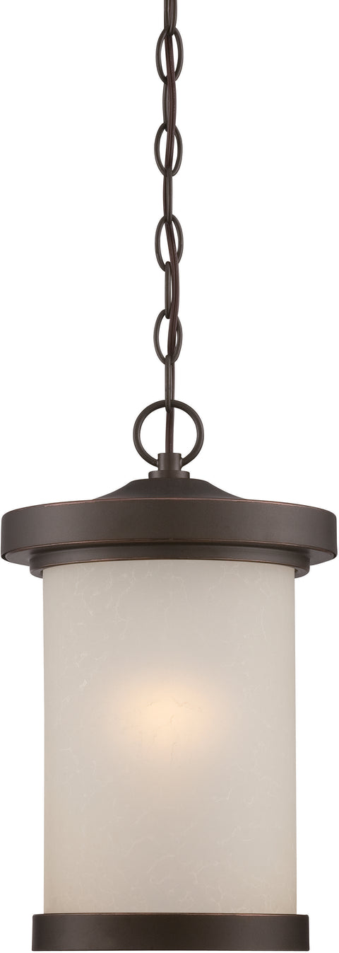 Nuvo Lighting 62/645 Diego LED Outdoor Hanging with Satin Amber Glass