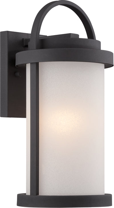 Nuvo Lighting 62/651 Willis LED Outdoor Small Wall Mount Sconce with Antique White Glass