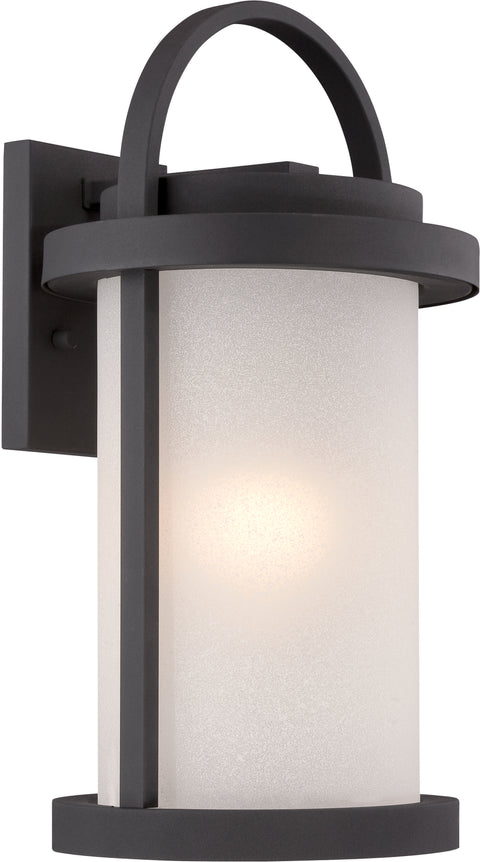 Nuvo Lighting 62/652 Willis LED Outdoor Large Wall Mount Sconce with Antique White Glass