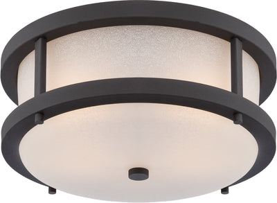 Nuvo Lighting 62/653 Willis LED Outdoor Flush Fixture with Antique White Glass