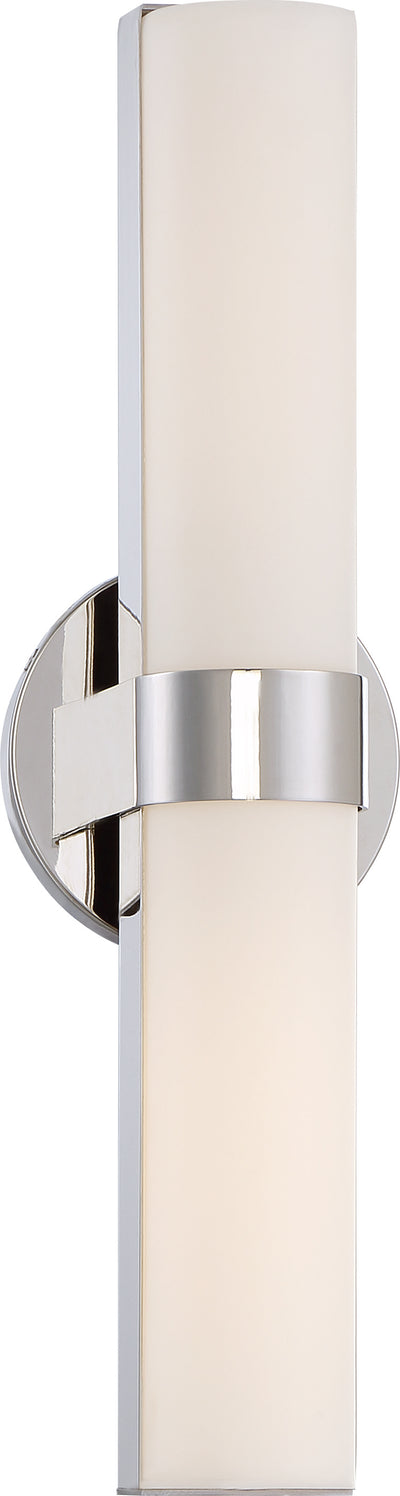 Nuvo Lighting 62/722 Bond Double 17 1/2 Inch LED Vanity with White Acrylic Lens