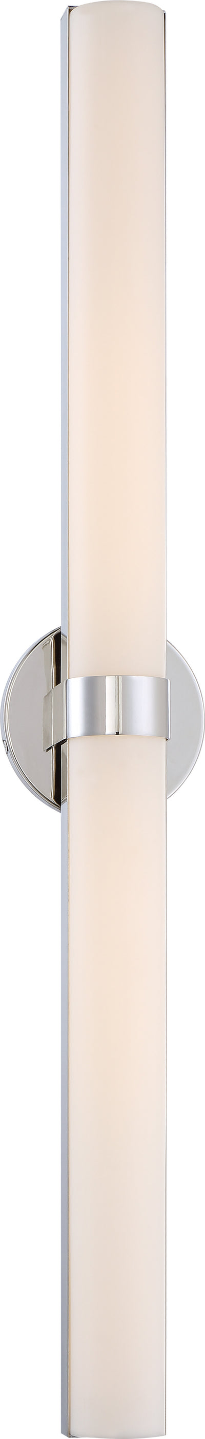 Nuvo Lighting 62/724 Bond Double 37 3/8 Inch LED Vanity with White Acrylic Lens