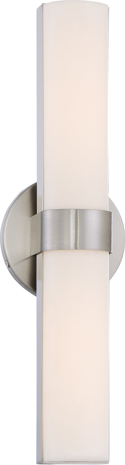 Nuvo Lighting 62/732 Bond Double 17 1/2 Inch LED Vanity with White Acrylic Lens