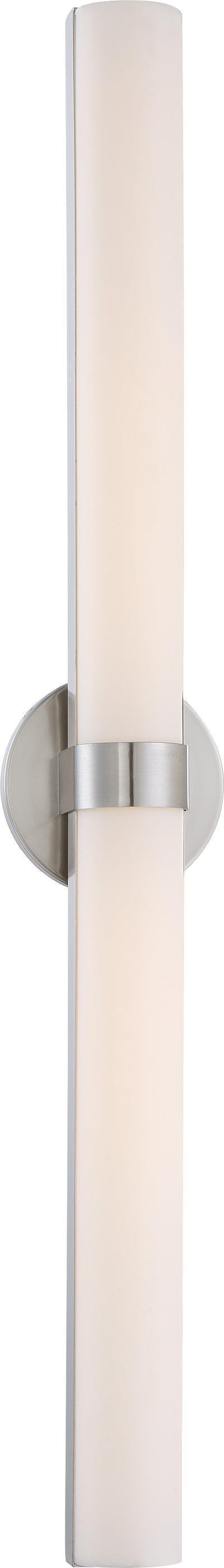 Nuvo Lighting 62/734 Bond Double 37 3/8 Inch LED Vanity with White Acrylic Lens