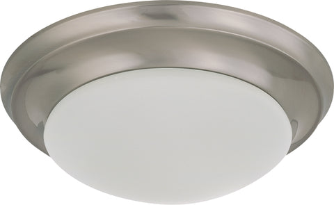 Nuvo Lighting 62/786 LED Light Fixture 11 3/4 Inch Flush Mounted Frosted Glass Brushed Nickel Finish 120 277V