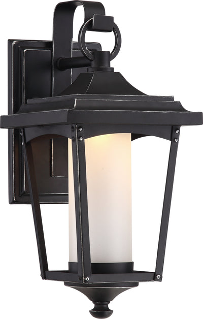 Nuvo Lighting 62/821 Essex 6.5 Inch Wall Mount Sconce Lantern Sterling Black Finish
