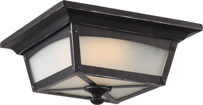 Nuvo Lighting 62/823 Essex Flush Lantern Sterling Black Finish