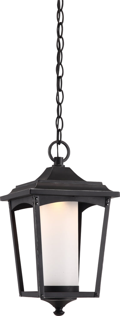Nuvo Lighting 62/824 Essex Hanging Lantern Sterling Black Finish