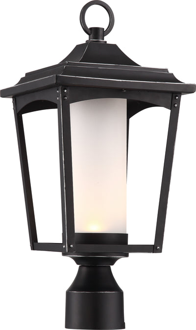 Nuvo Lighting 62/825 Essex Post Lantern Sterling Black Finish