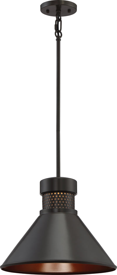 Nuvo Lighting 62/857 Doral Large LED Pendant Dark Bronze / Copper Accent Finish