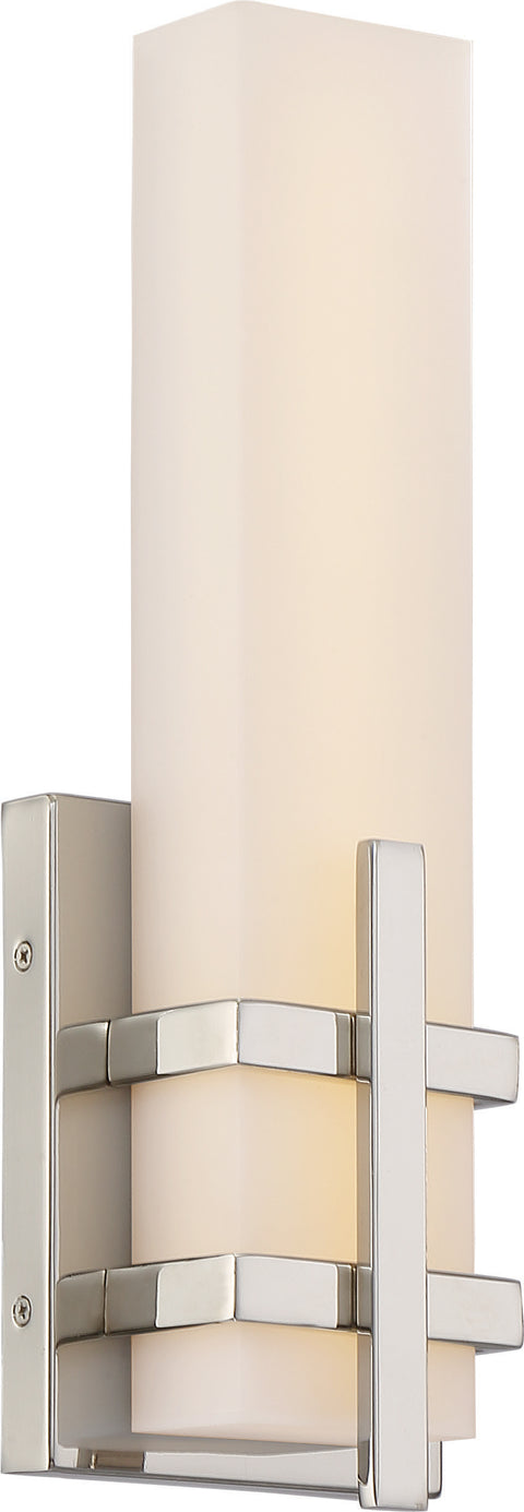 Nuvo Lighting 62/871 Grill Single LED Wall Mount Sconce Sconce Polished Nickel Finish