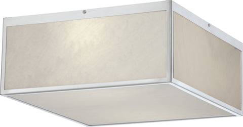Nuvo Lighting 62/891 Crate 14 Inch LED Flush Fixture with Gray Marbleized Acrylic Panels Brushed Nickel Finish