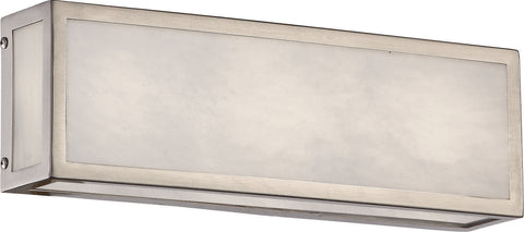 Nuvo Lighting 62/895 Crate 12 Inch LED Vanity Fixture with Gray Marbleized Acrylic Panels Brushed Nickel Finish