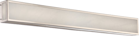 Nuvo Lighting 62/897 Crate 36 Inch LED Vanity Fixture with Gray Marbleized Acrylic Panels Brushed Nickel Finish